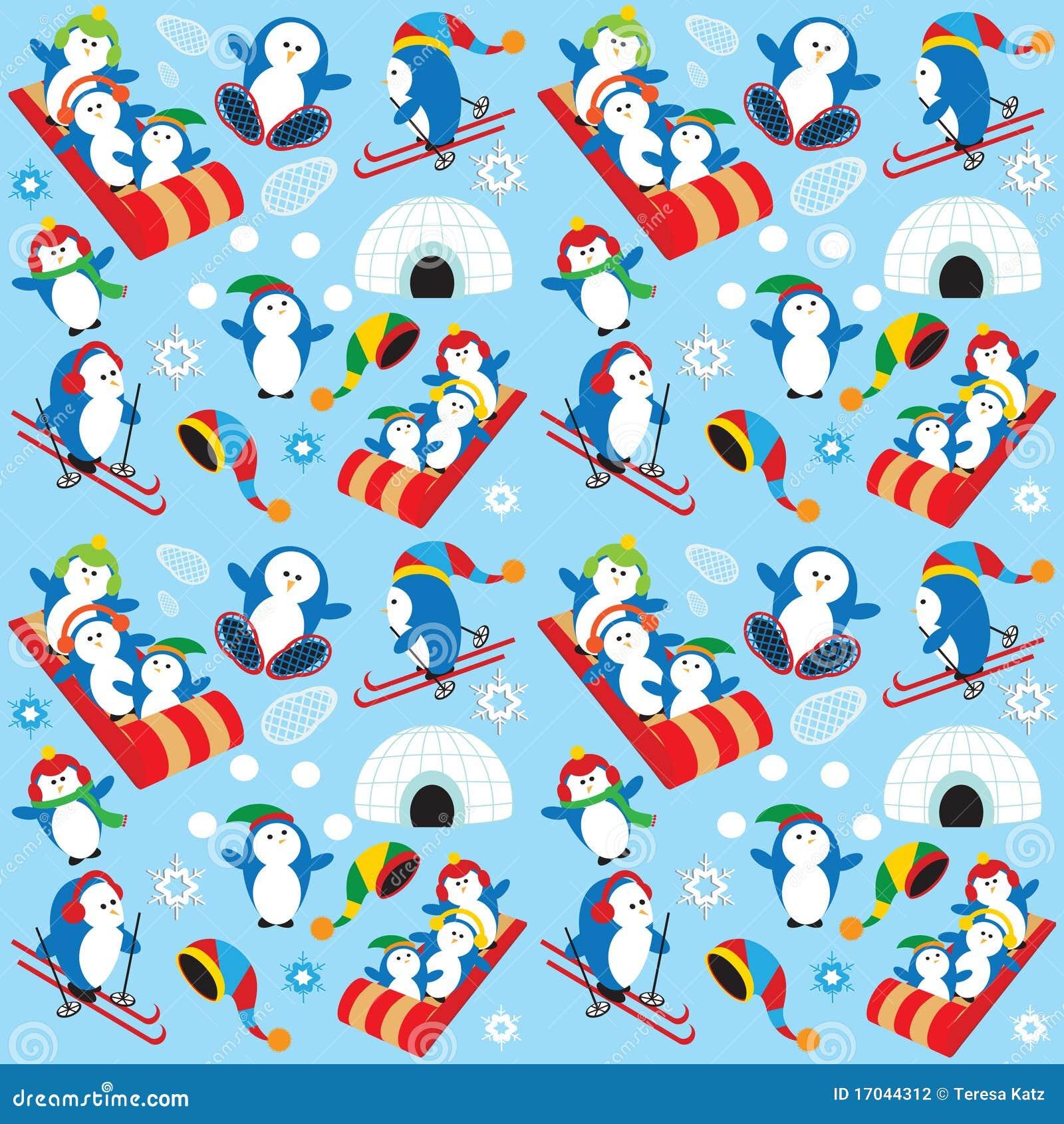 Penguin Wallpaper Stock Vector Illustration Of Village