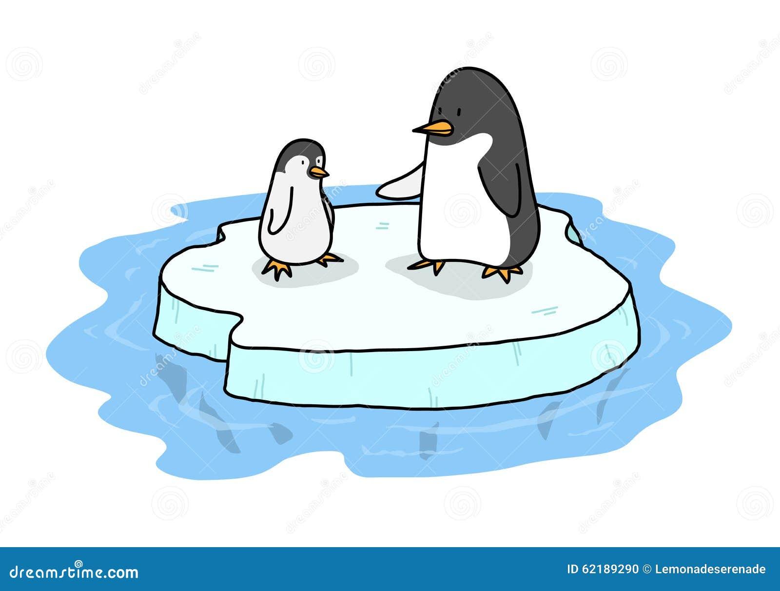Penguins on ice stock vector illustration of easy for Clipart iceberg