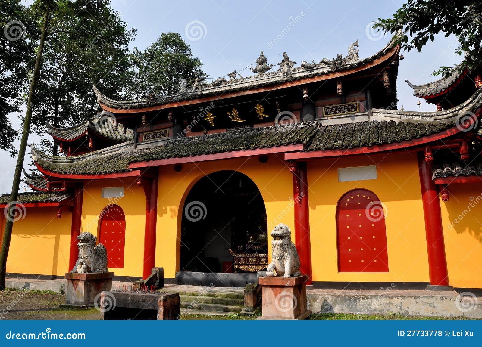 Pengzhou, China: Buddhistischer Tempel Dongyuan-Si