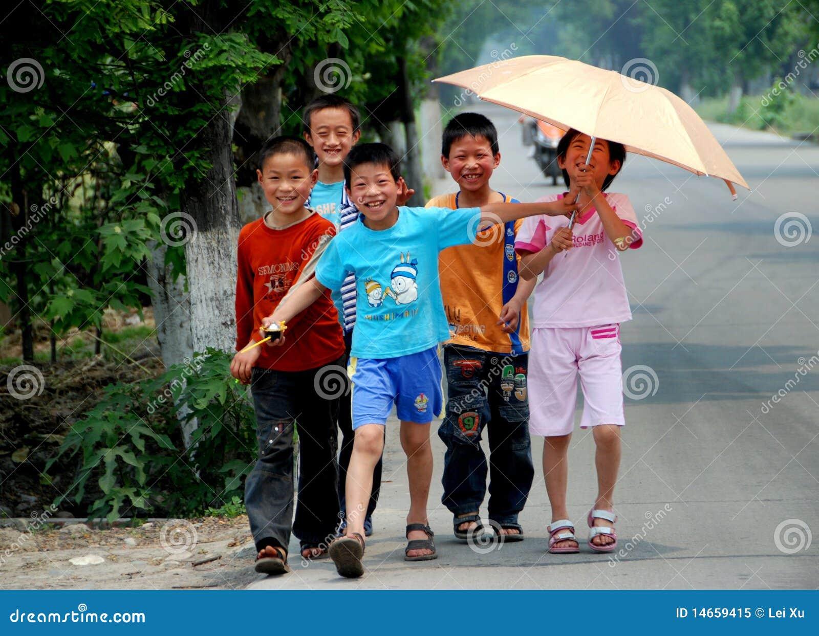Pengzhou, China: Chinese Schoolchildren