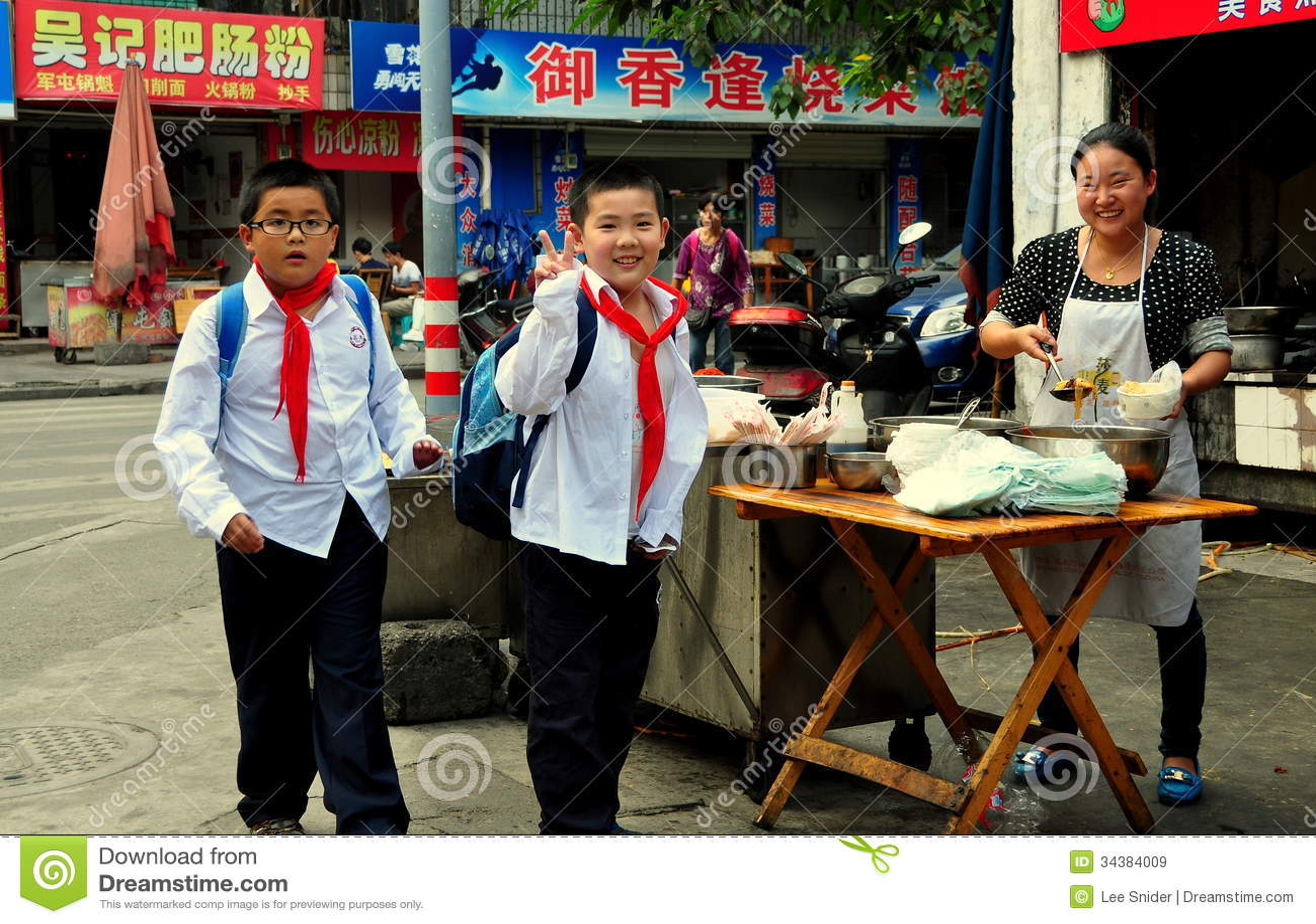 Pengzhou China School Boys Buying Snacks Editorial Stock Image  # Bois En Chaene