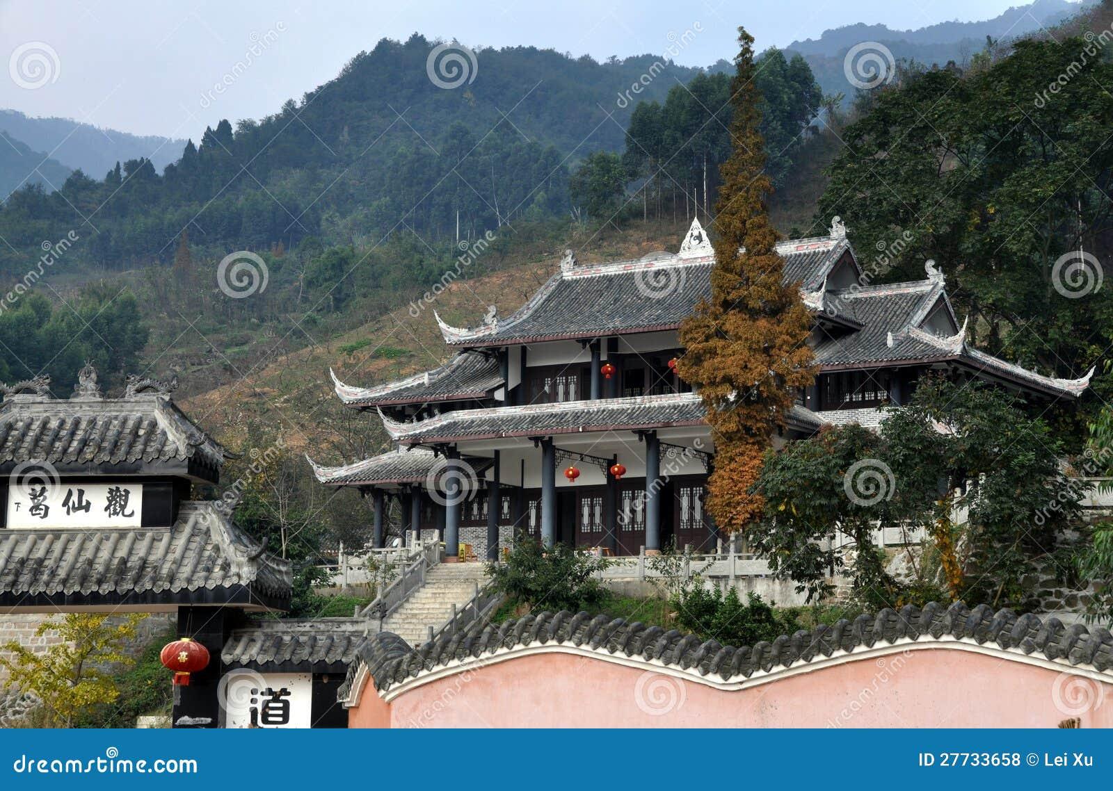 Pengzhou, China: Tempel GE-Xian Guan