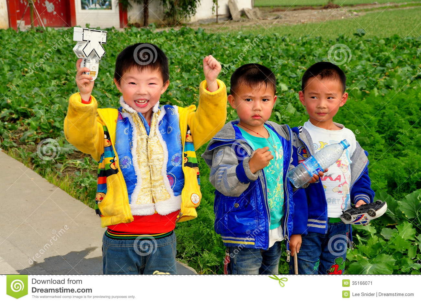Pengzhou China Three Little Boys On Farm Editorial Photo Image  # Bois En Chaene