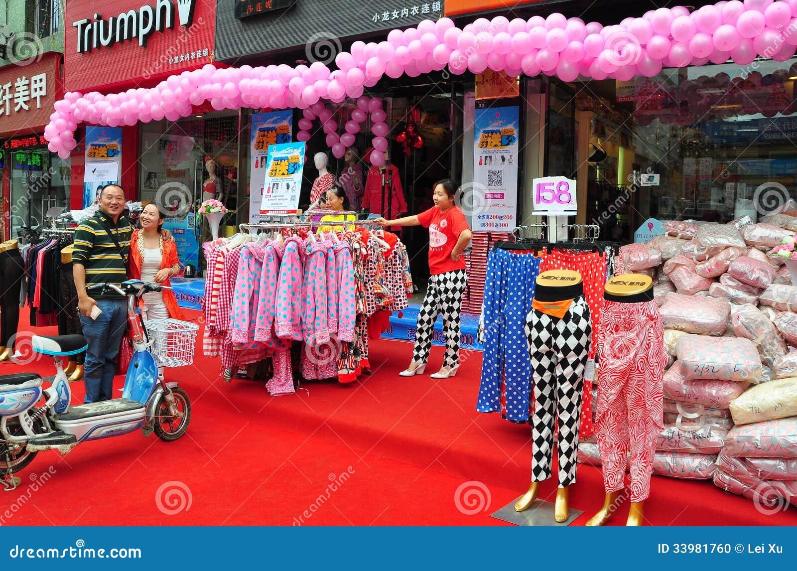 Pengzhou Kina: Storslagen öppning för klädlager