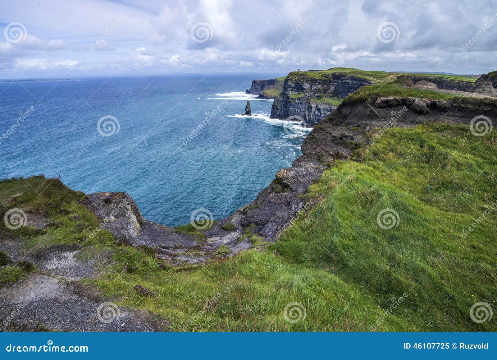Penhascos e oceano