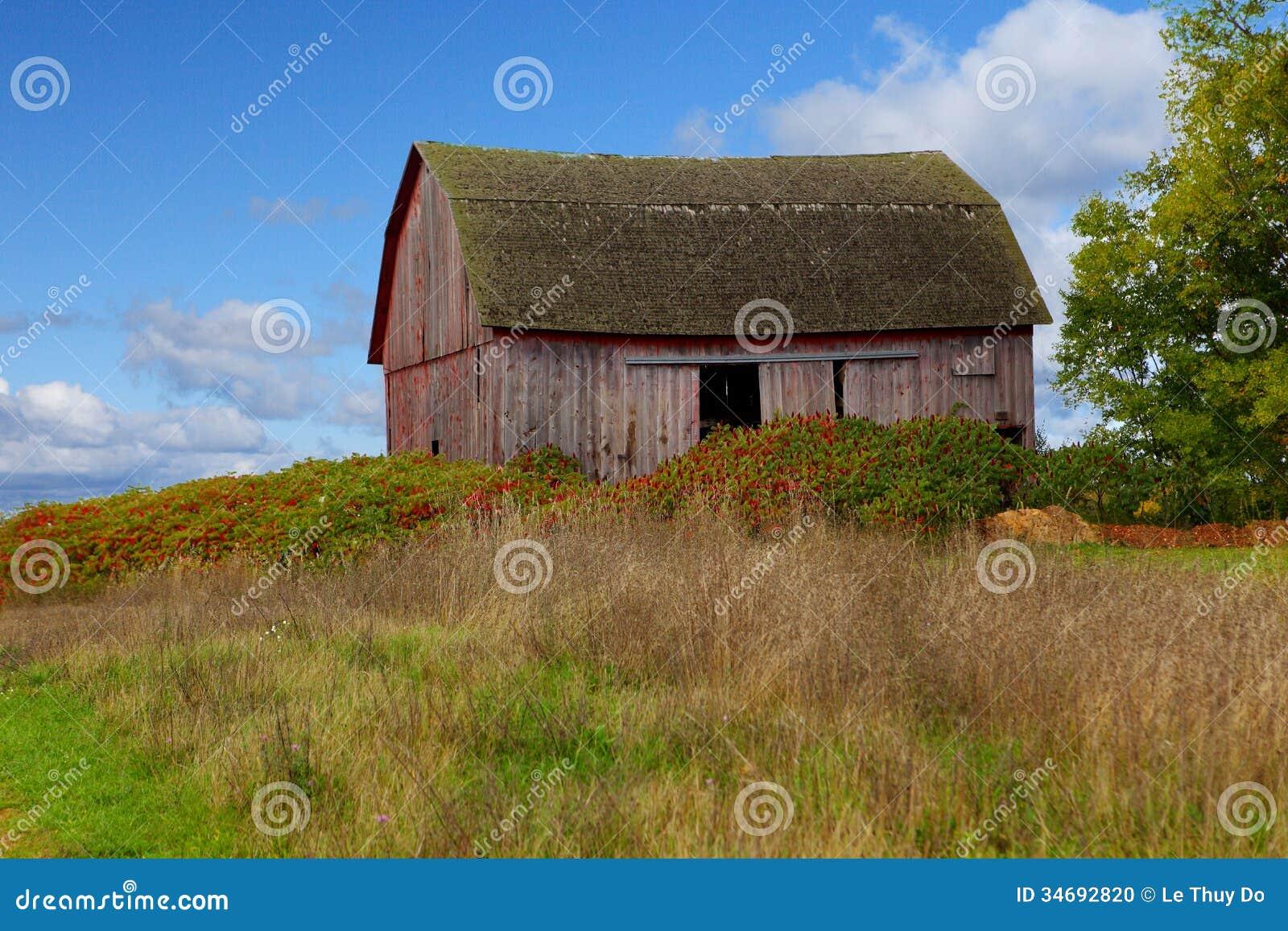 Peninsula Old Barn Stock Photo Image 34692820