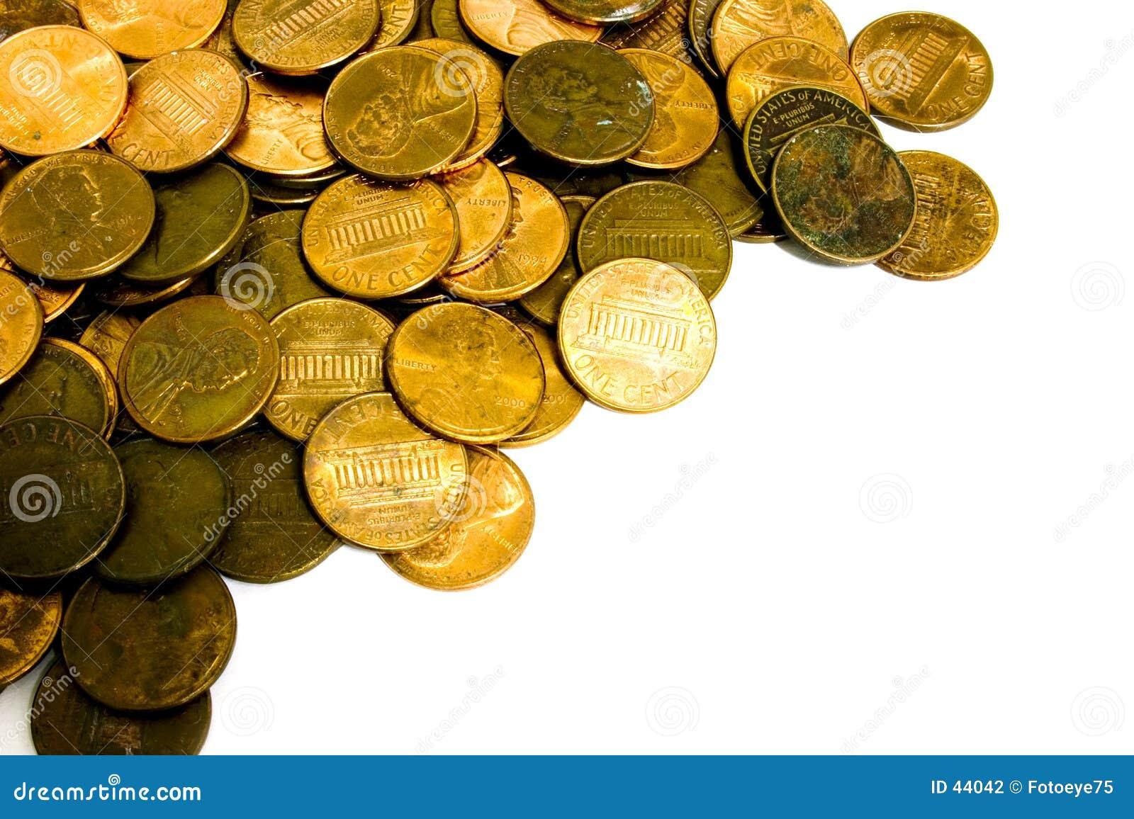 Download Peniques foto de archivo. Imagen de americano, financiero - 44042