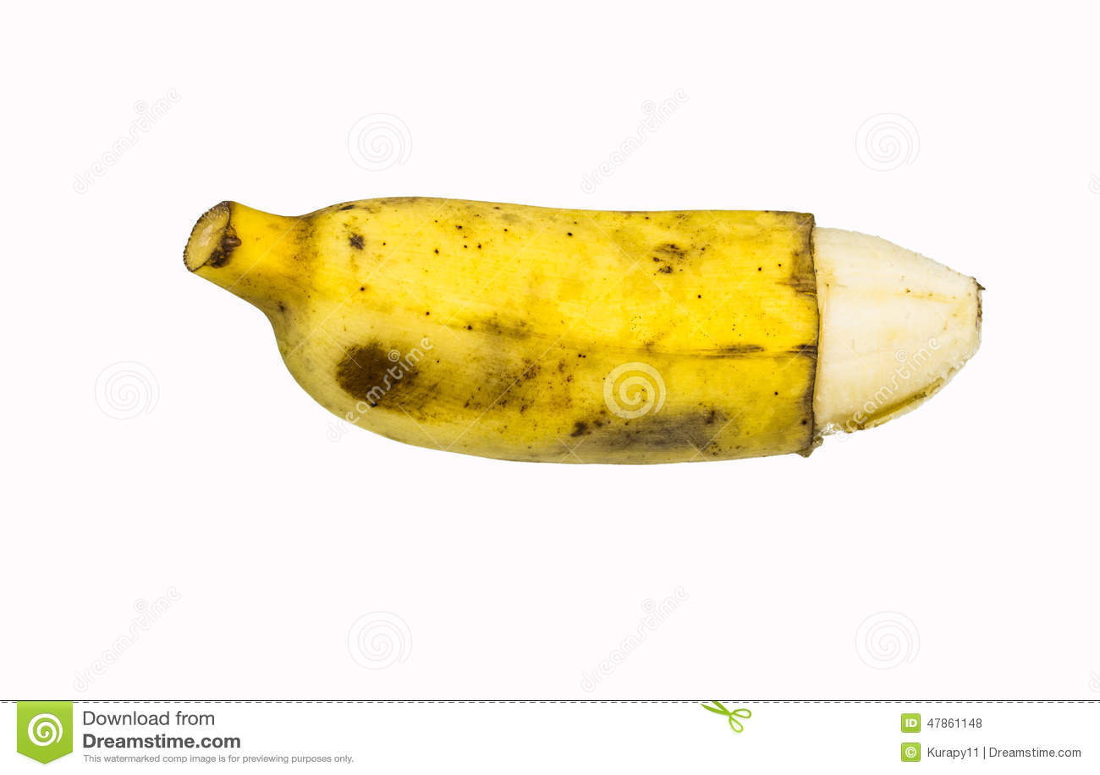 Penis zoals rijpe banaan