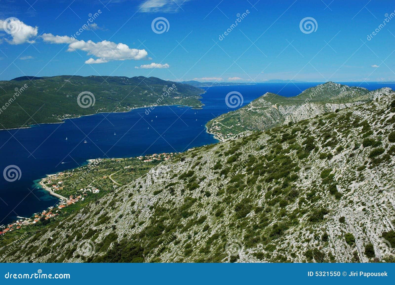 Download Penisola di Peljesac fotografia stock. Immagine di croatian - 5321550