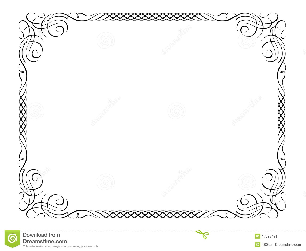 penmanship decorative frame