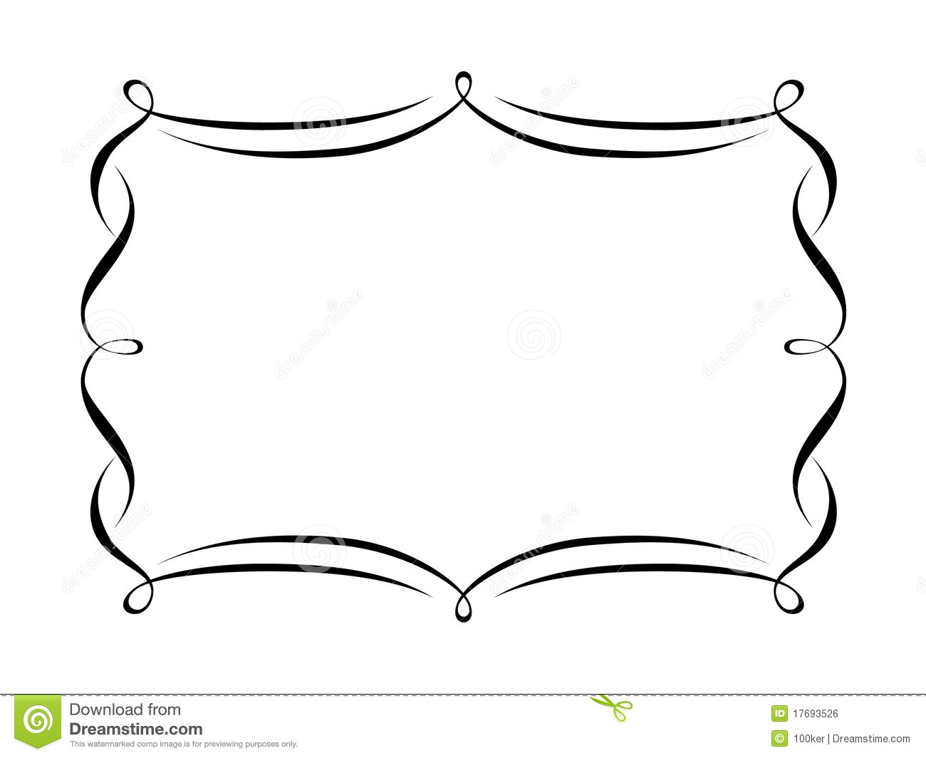 Penmanship Decorative Frame Stock Vector - Illustration of design ...