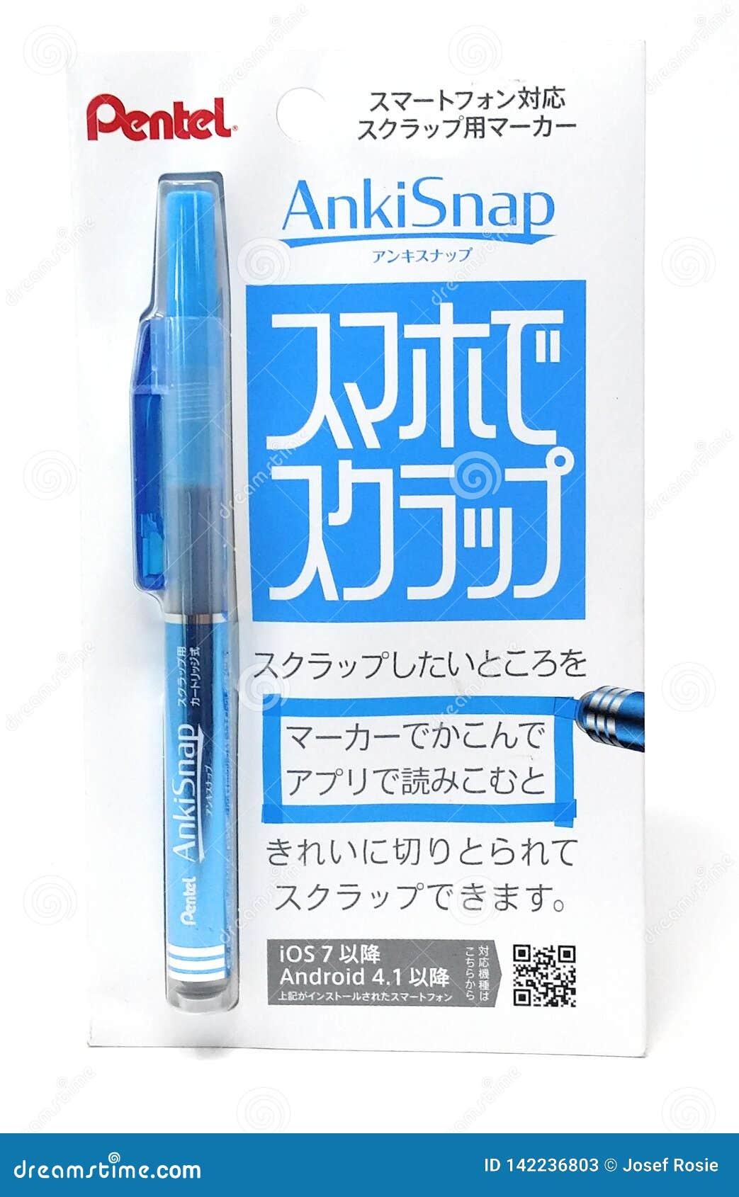 Penna blu dell evidenziatore della anki-rottura di Pentel dal Giappone