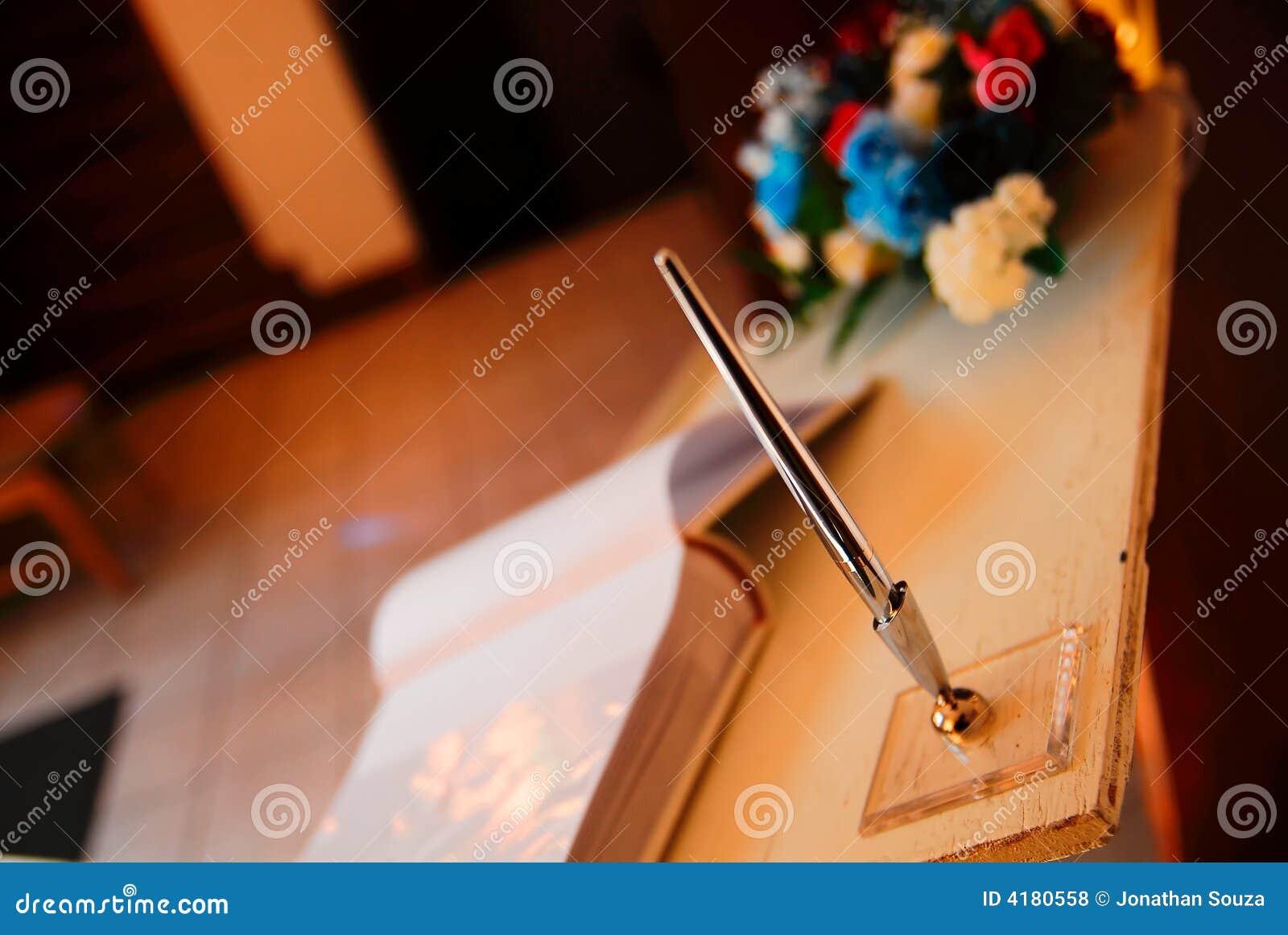 Penna di cerimonia nuziale