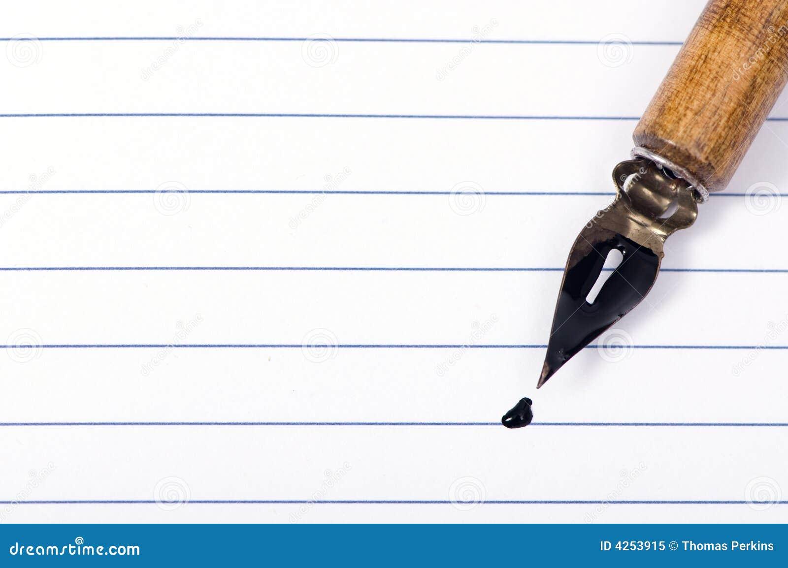 Penna för blank sida