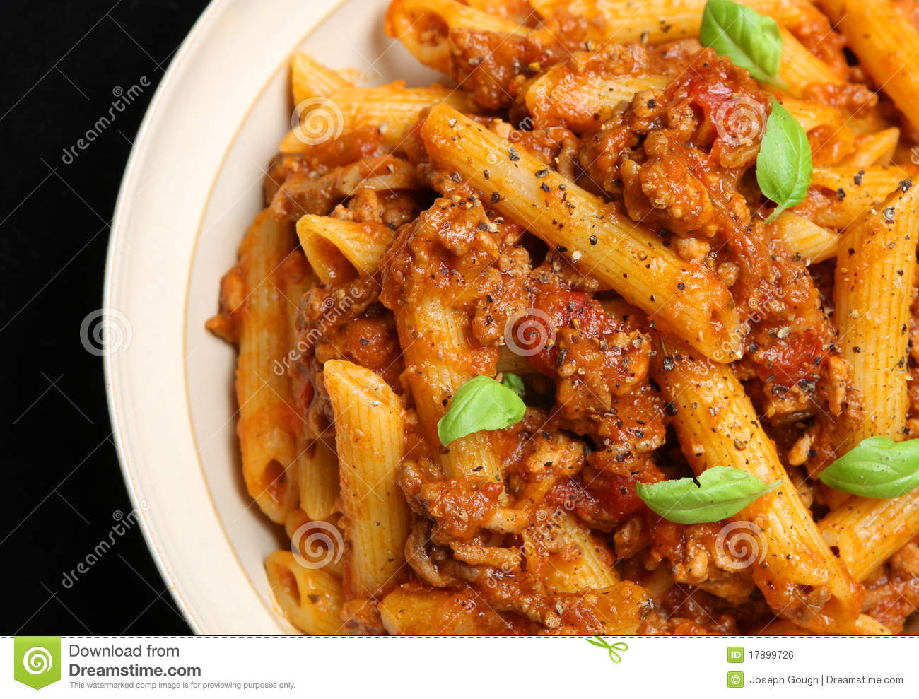 Penne Pasta With Bolognese Sauce Royalty Free Stock Image - Image ...