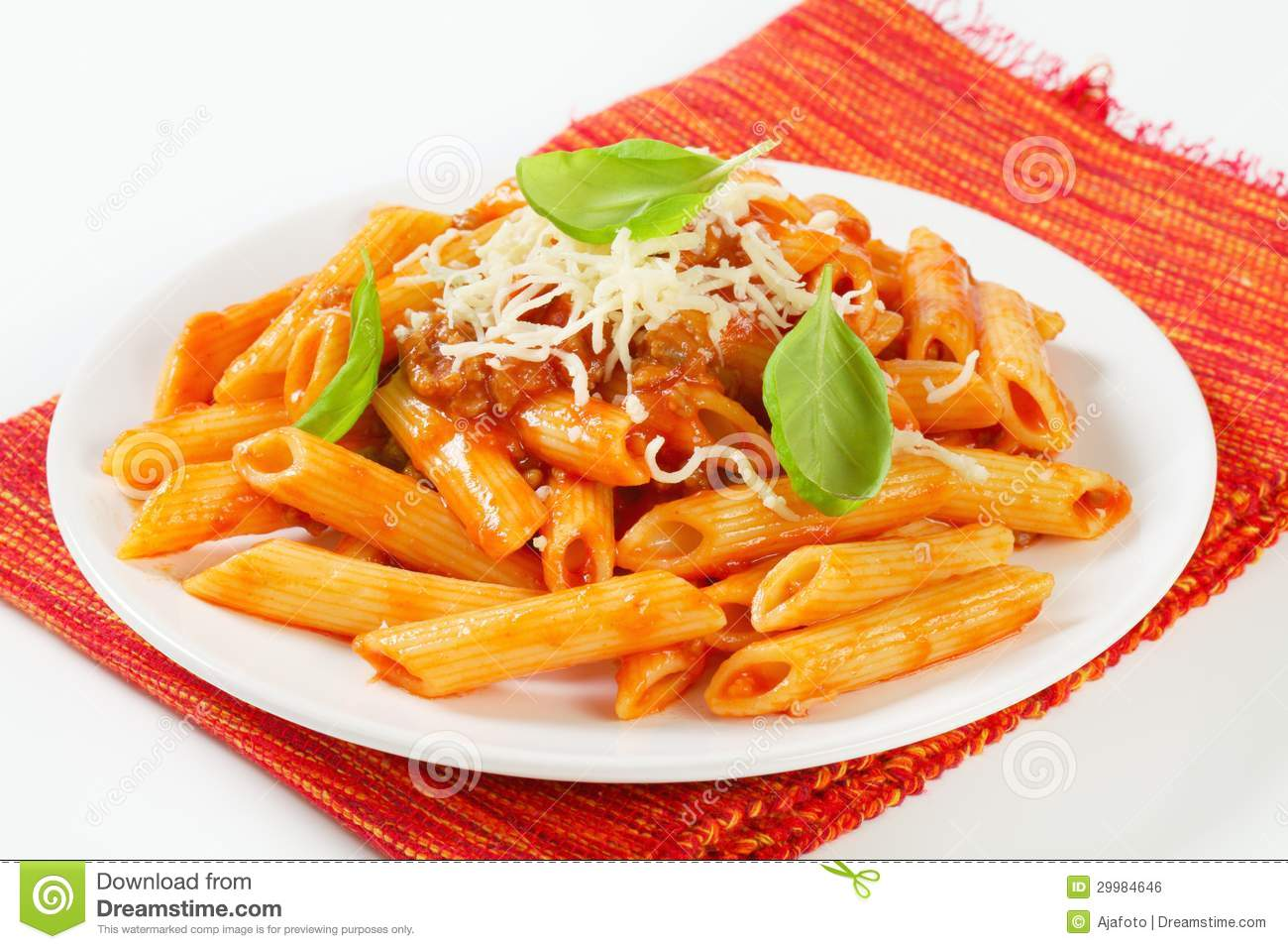 Penne With Meat Tomato Sauce Royalty Free Stock Image - Image ...