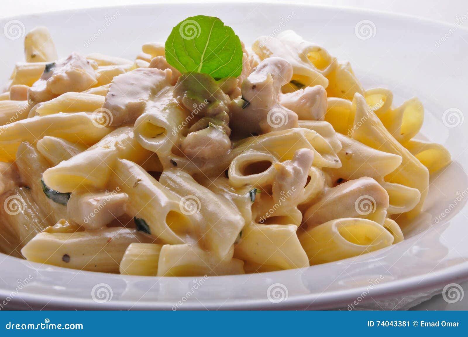 pasta med vitsås