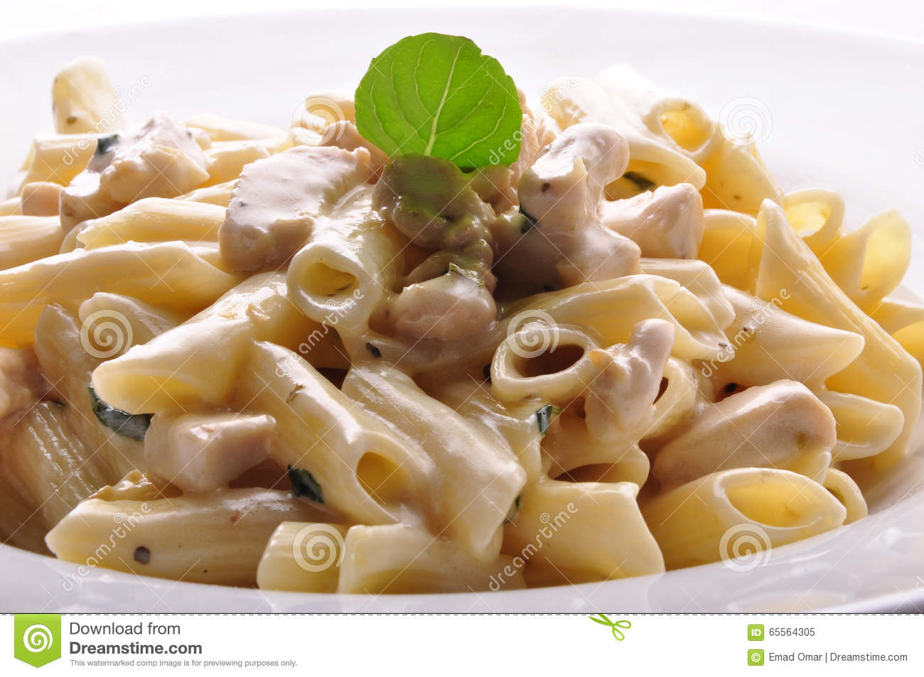 Penne Pasta With White Sauce Stock Image - Image of meal ...