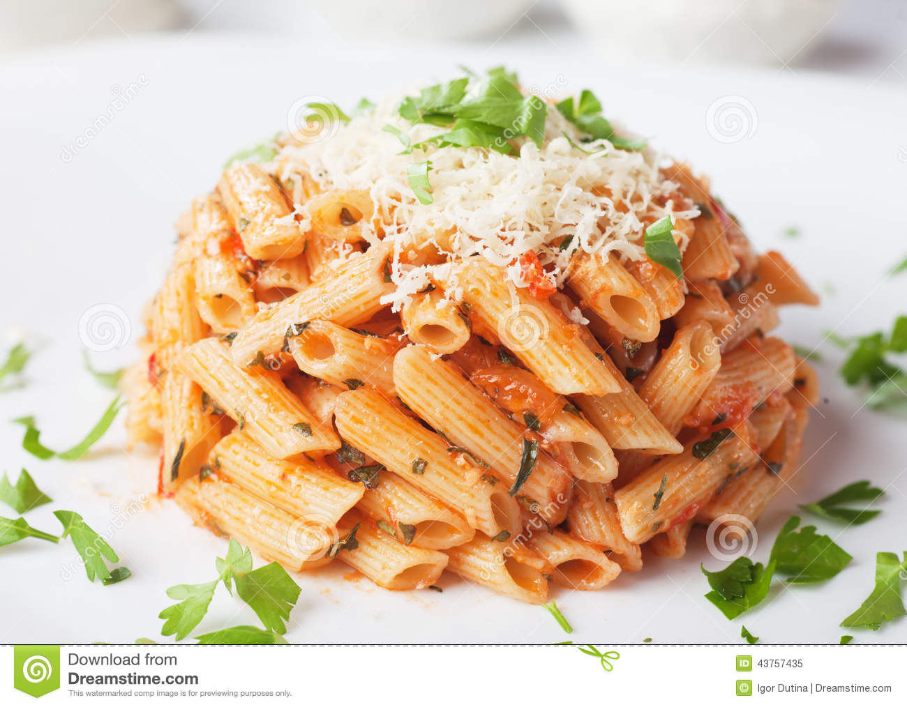 "Spaghetti"" With Tomato Sauce And Parmesan Cheese Recipe — Dishmaps"