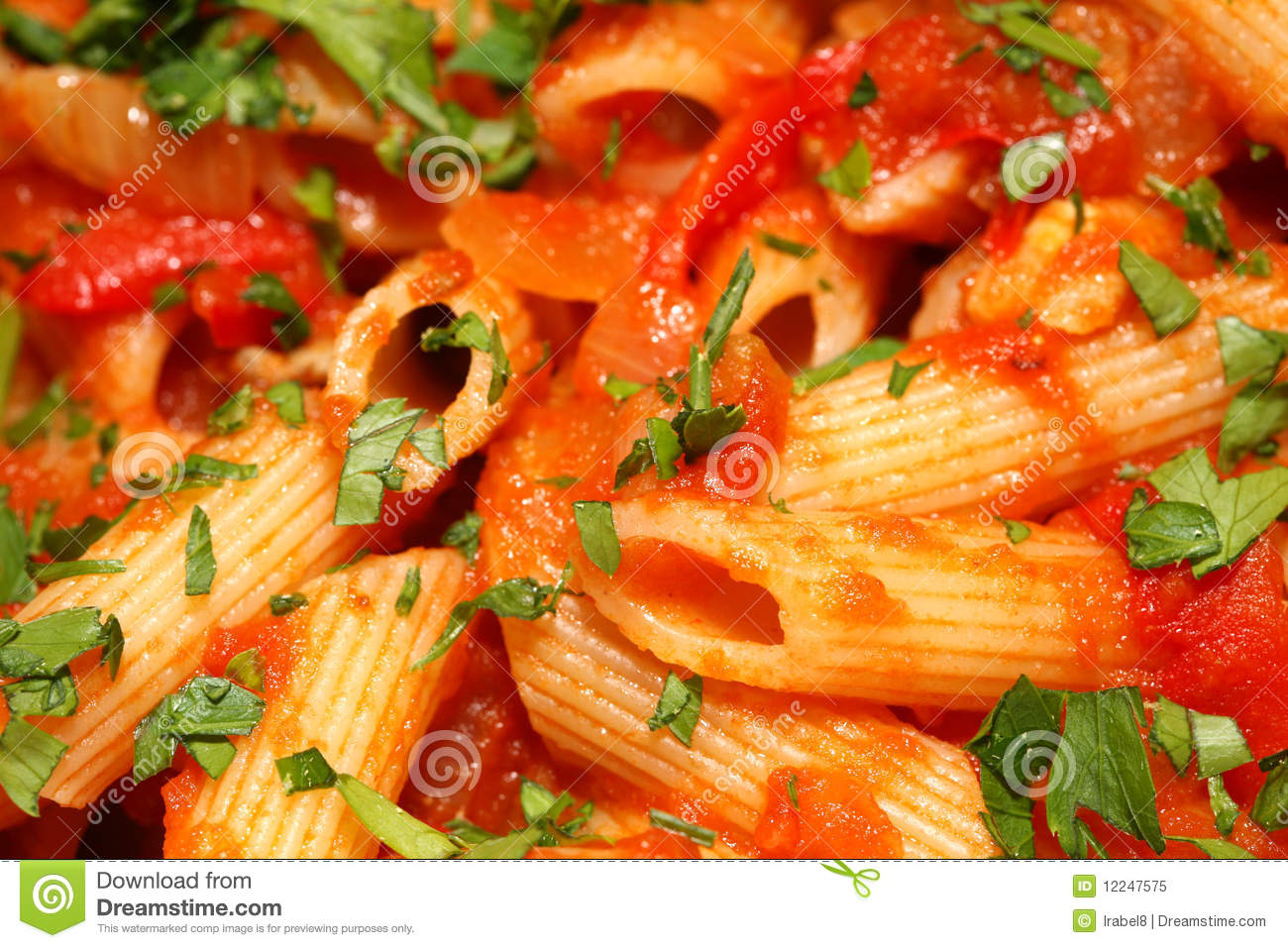Penne Rigate Pasta With Tomato Sauce Royalty Free Stock Photo - Image ...