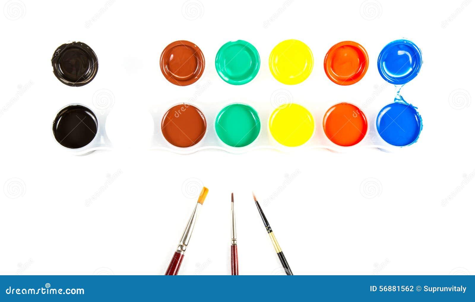 Pennelli e vernice