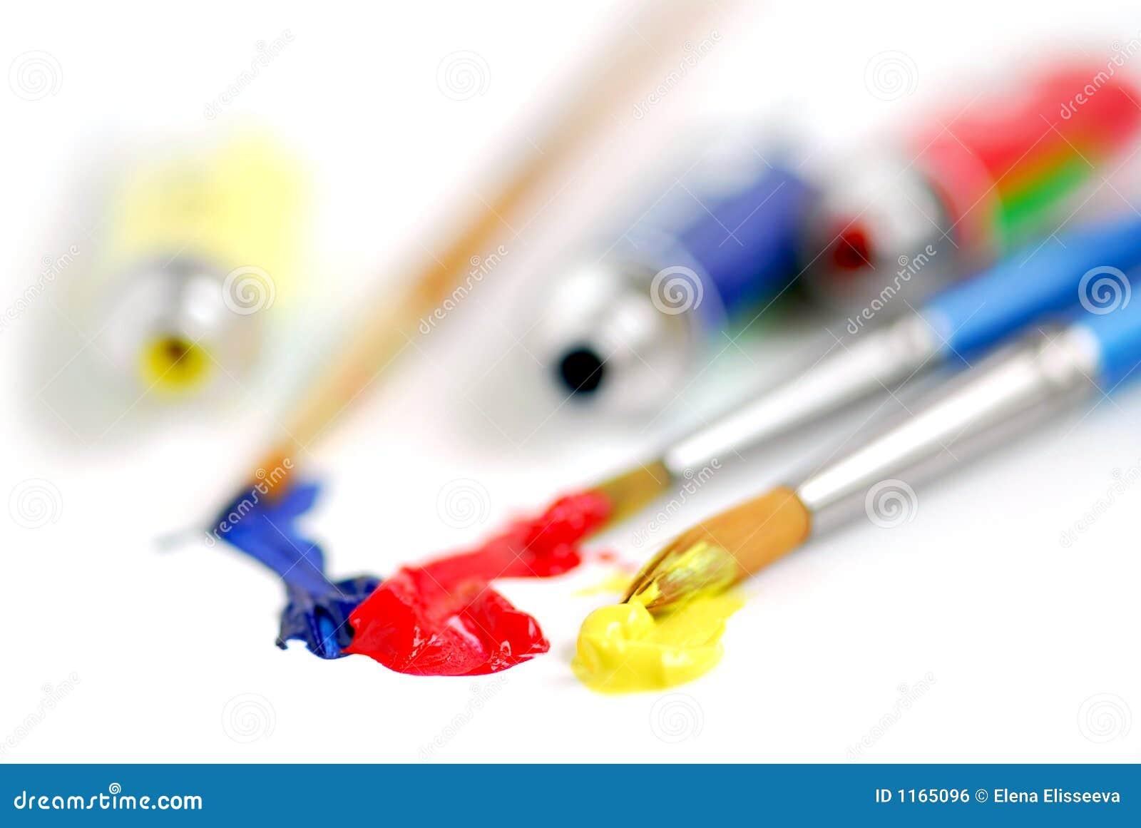 Pennello di colori primari fotografia stock immagine di - Immagine di terra a colori ...