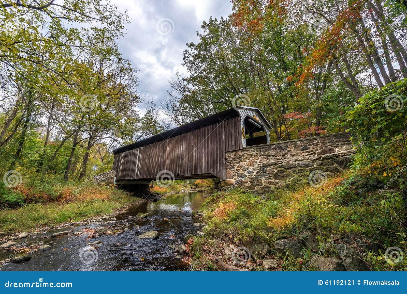 Pennsylvania Behandelde Brug in de Herfst
