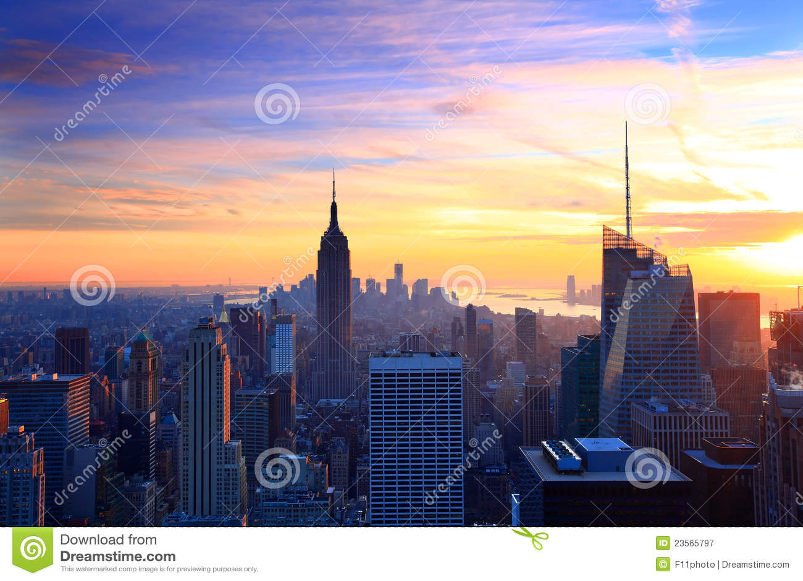 Penombra dell orizzonte di New York City