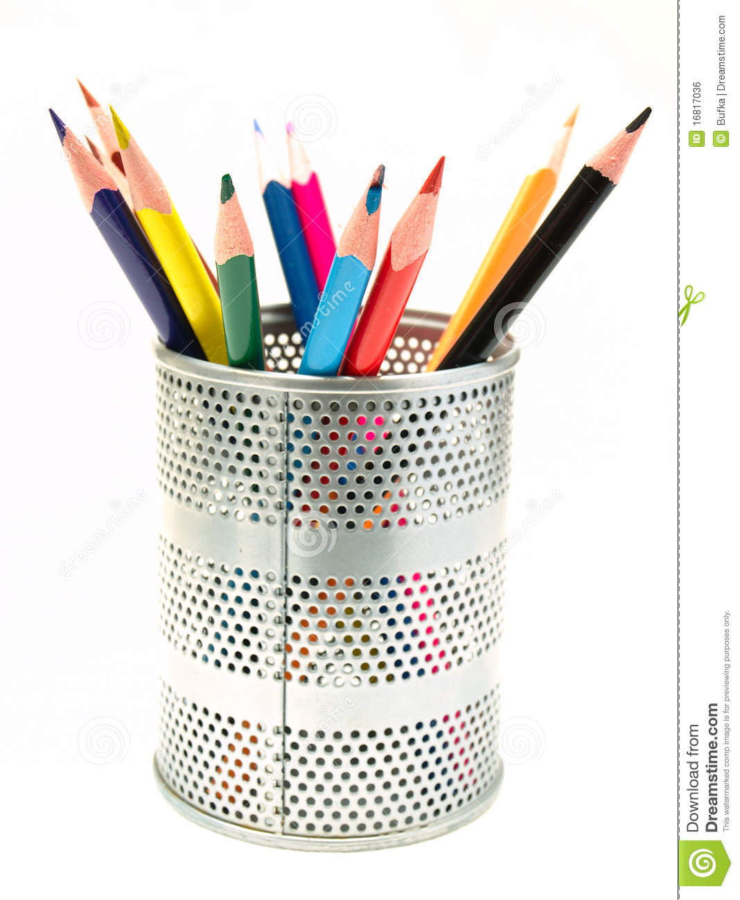 Pens In The Pen Holder Royalty Free Stock Image Image