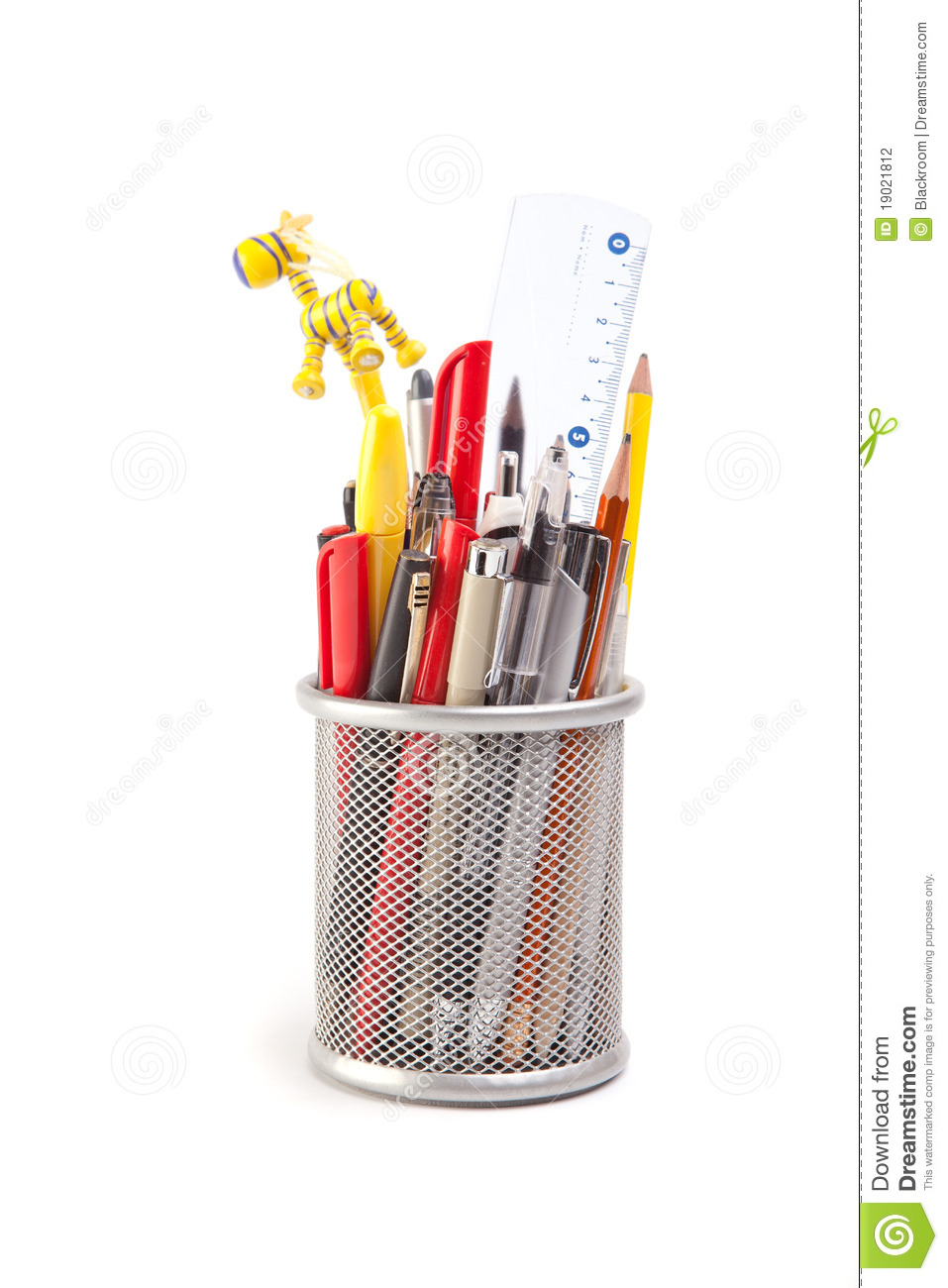 Download Pens and pencils stock photo. Image of desk, crayon, container - 19021812