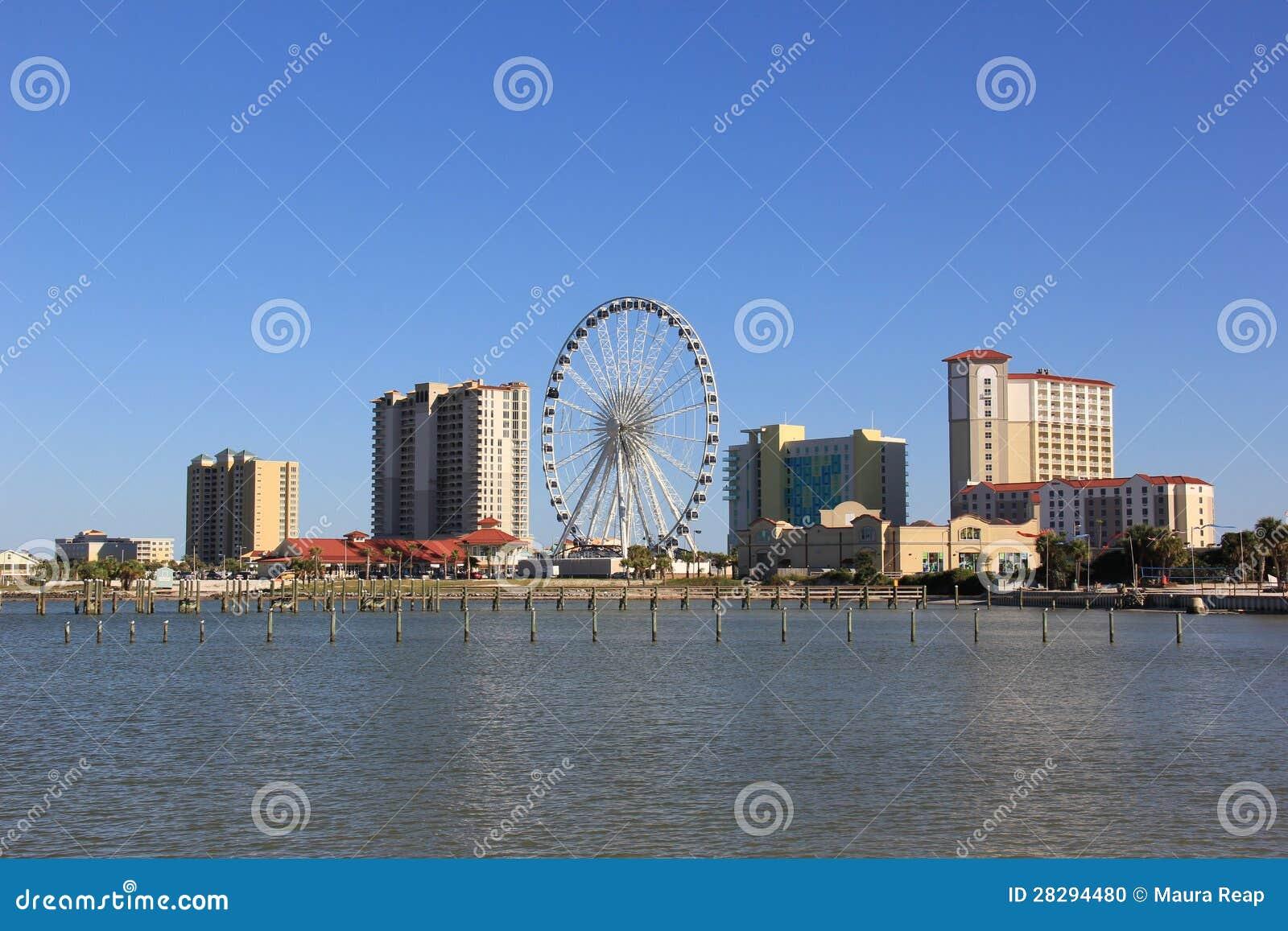 Pensacola Beach Skyline Stock Photo Image 28294480