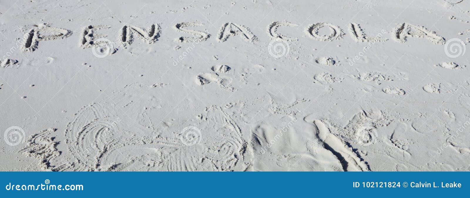 Pensacolastrand, de Prentbriefkaar van Florida