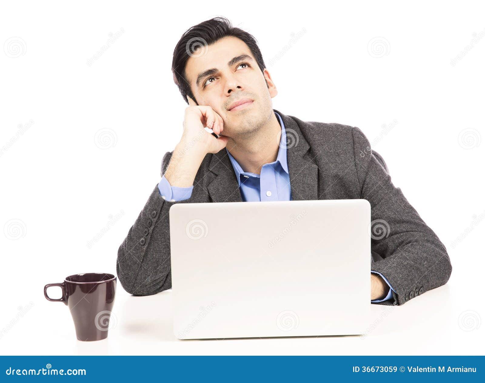 Pensamento do homem de negócio