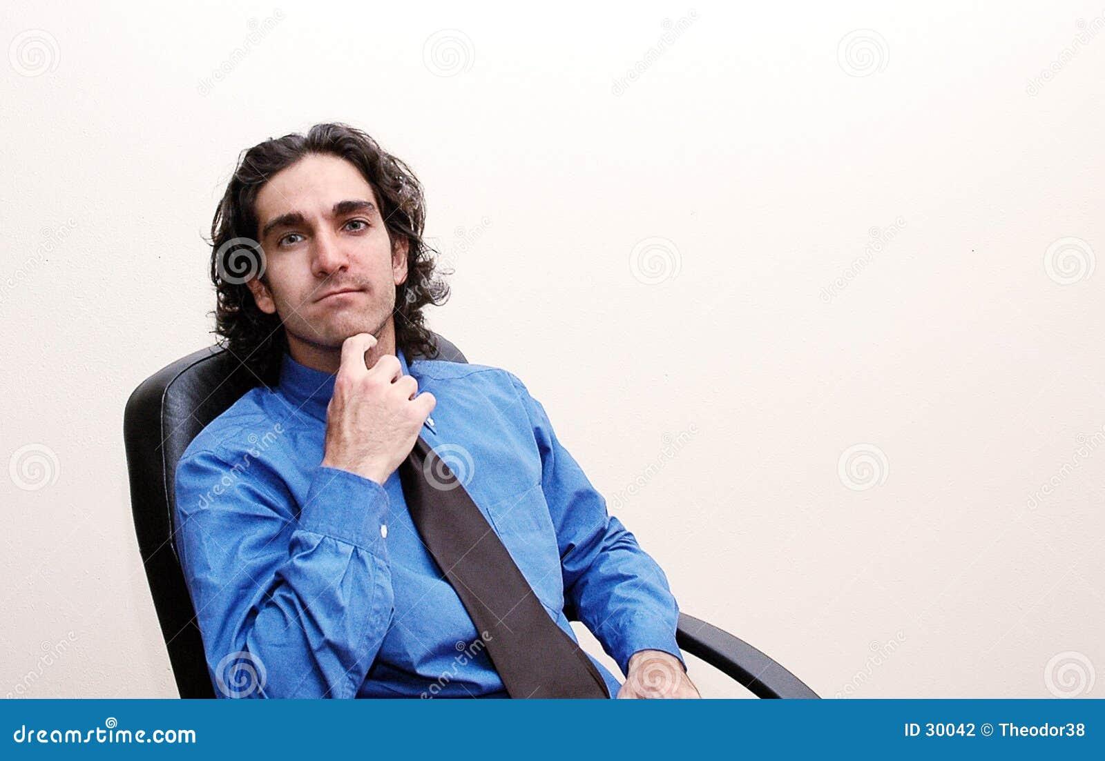 Pensamento do homem de negócios