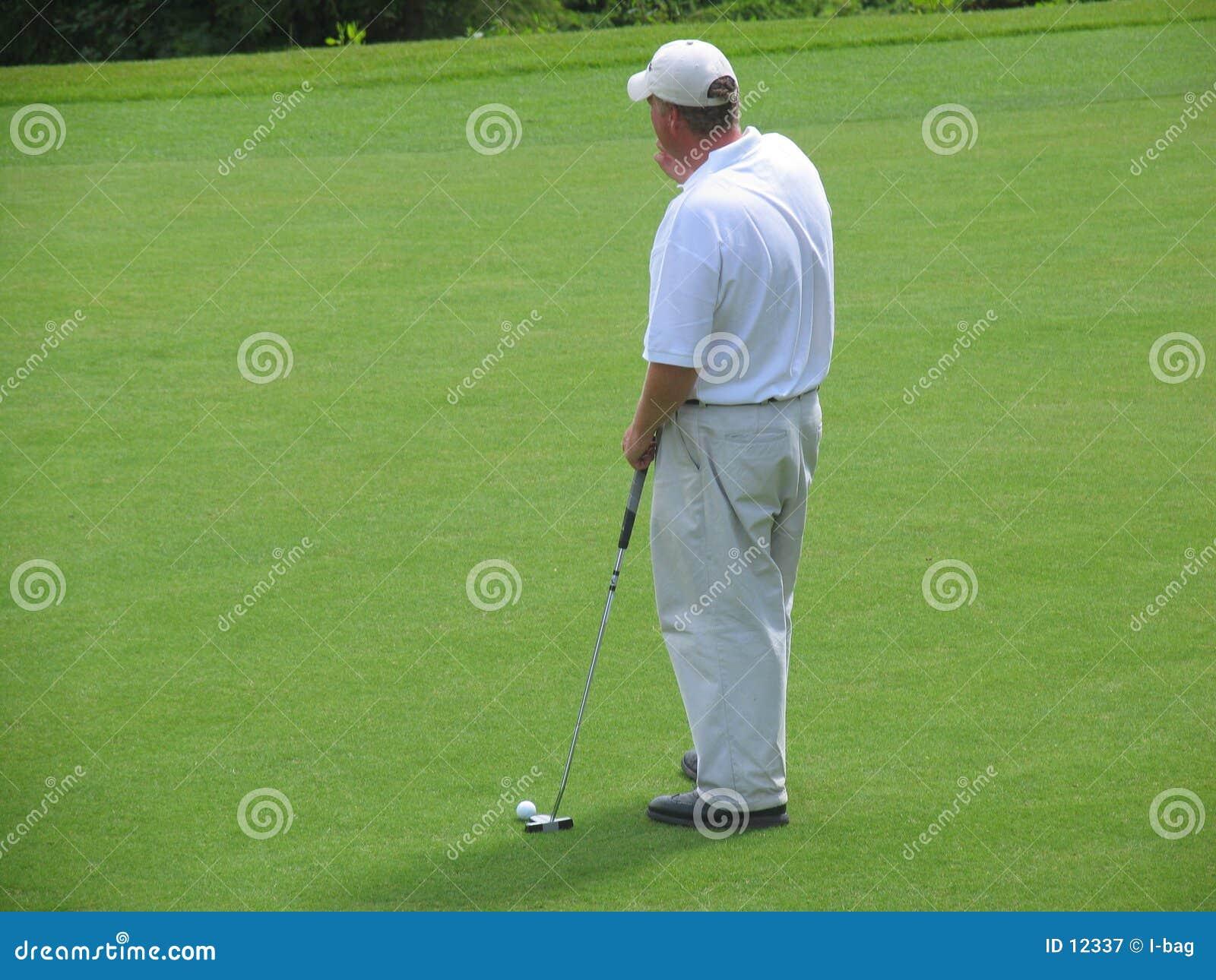 Pensamento do jogador de golfe