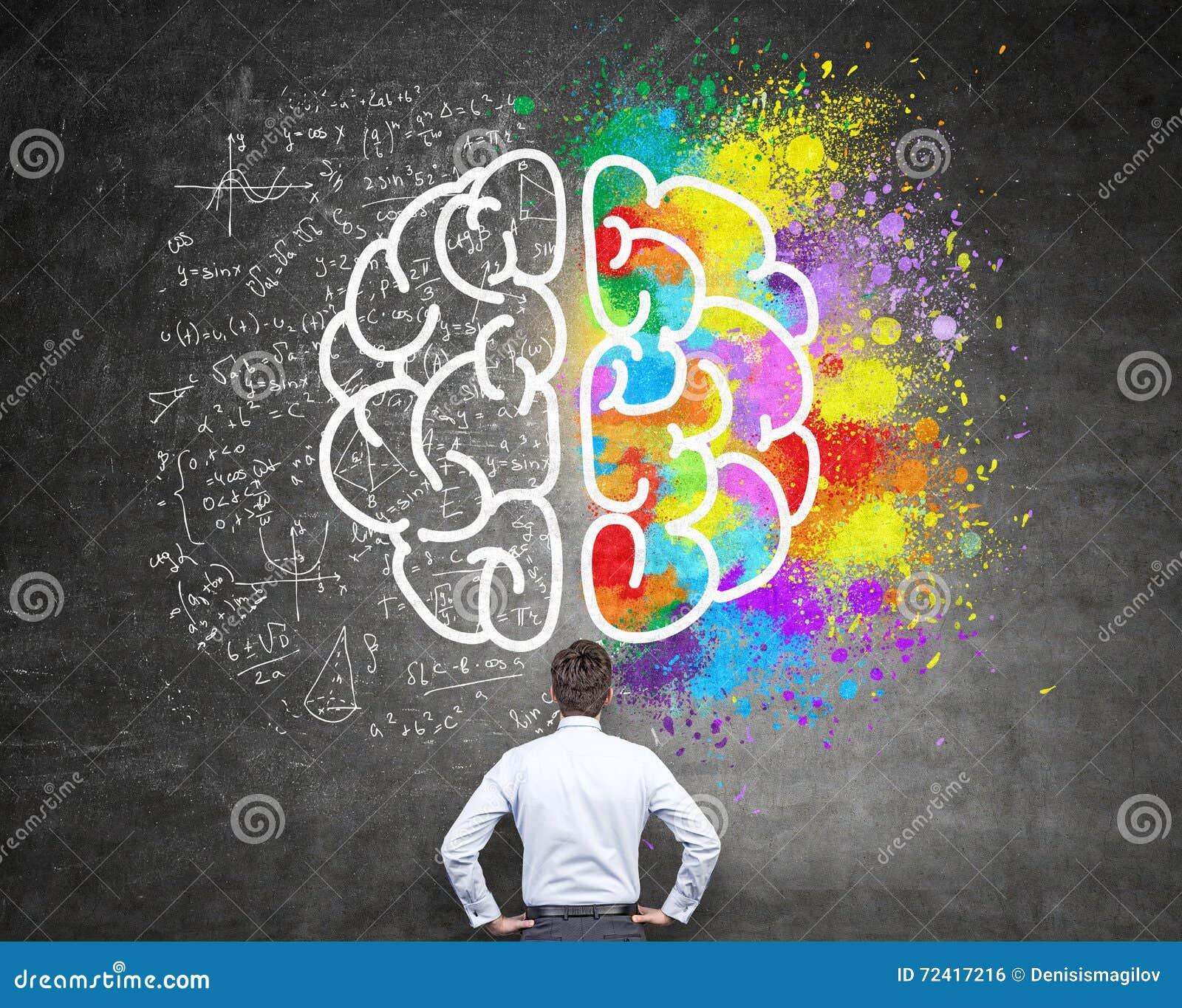 Píntate De Optimismo Y Creatividad: Pensamiento Analítico Y Creativo Stock De Ilustración