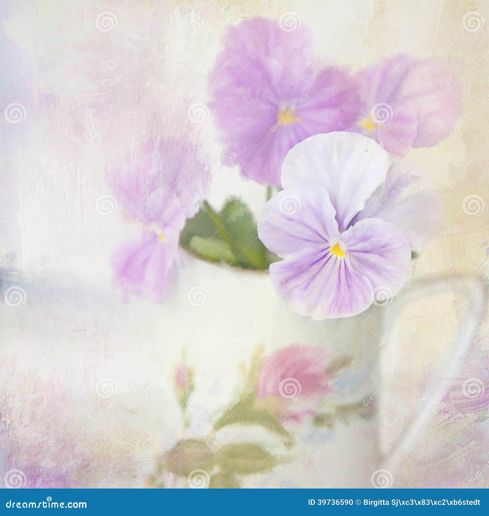 Pensamiento. Tarjeta de la flor.