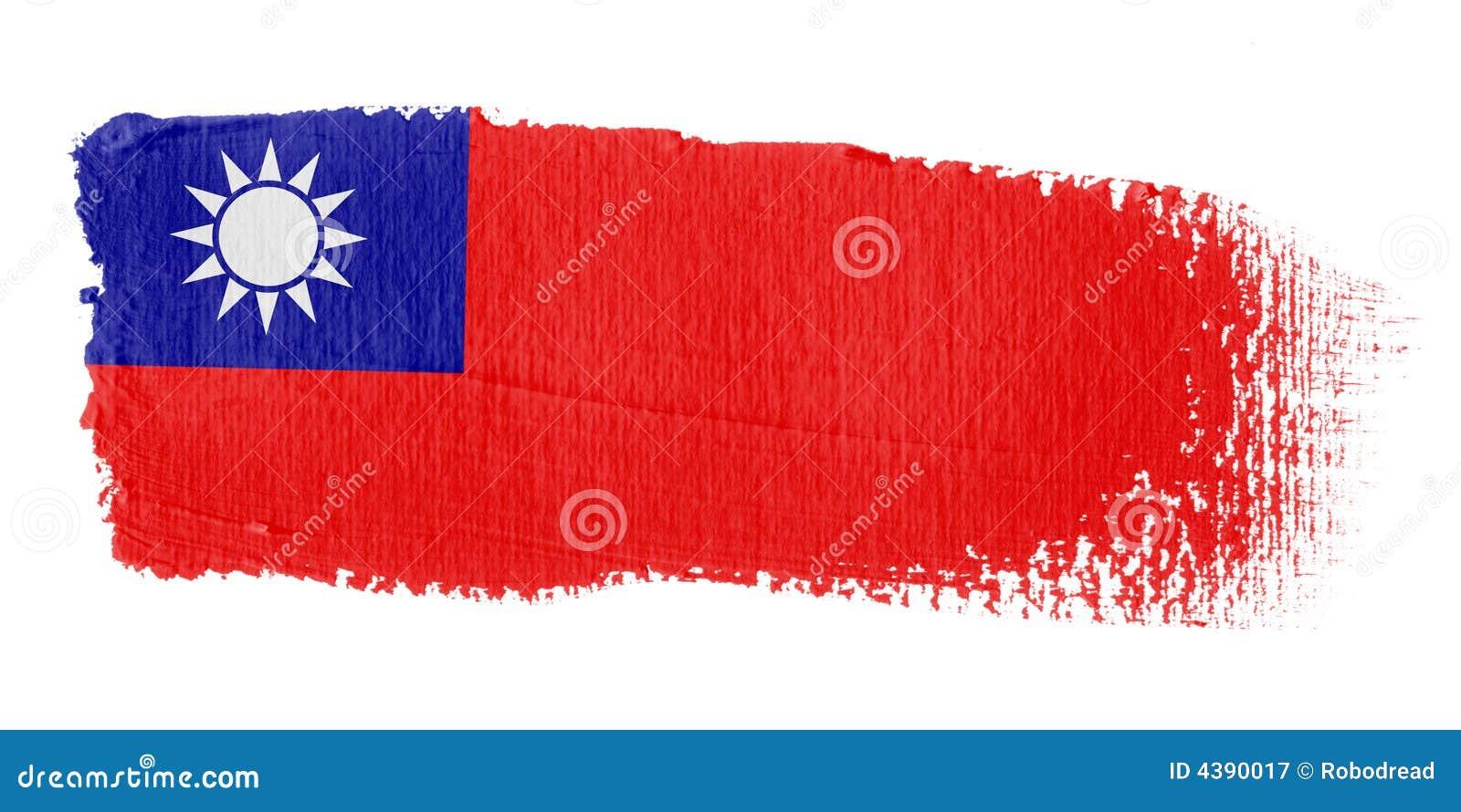 Penseldragflagga taiwan