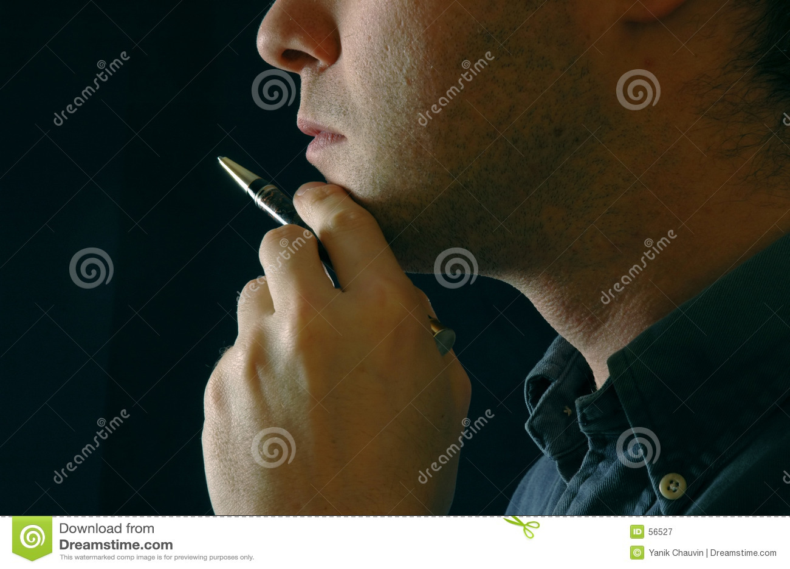 Download Penseur image stock. Image du businessman, closeup, affaires - 56527