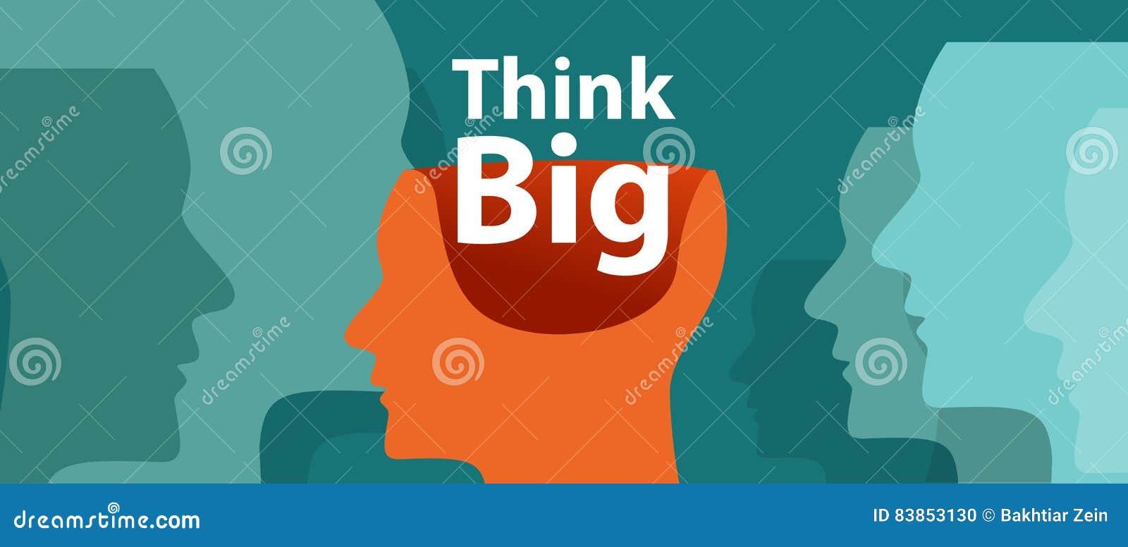 Pensez l imagination créative d innovation de vecteur de motivation de grande d inspiration illustration d idée