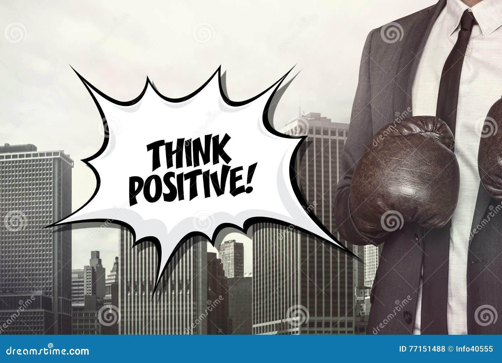 Pensez le texte positif sur la bulle de la parole