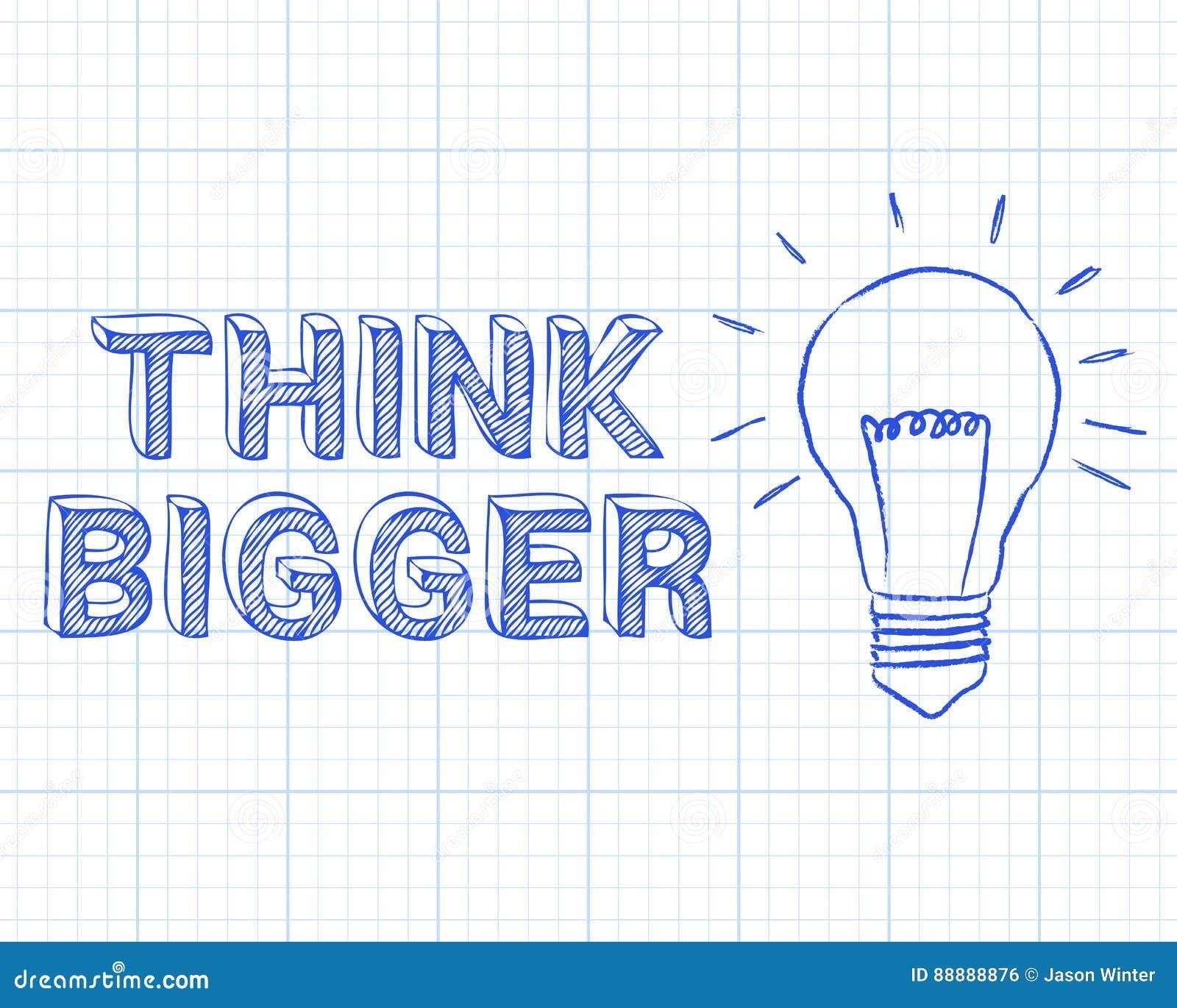 Pensez un plus grand papier de graphique d ampoule