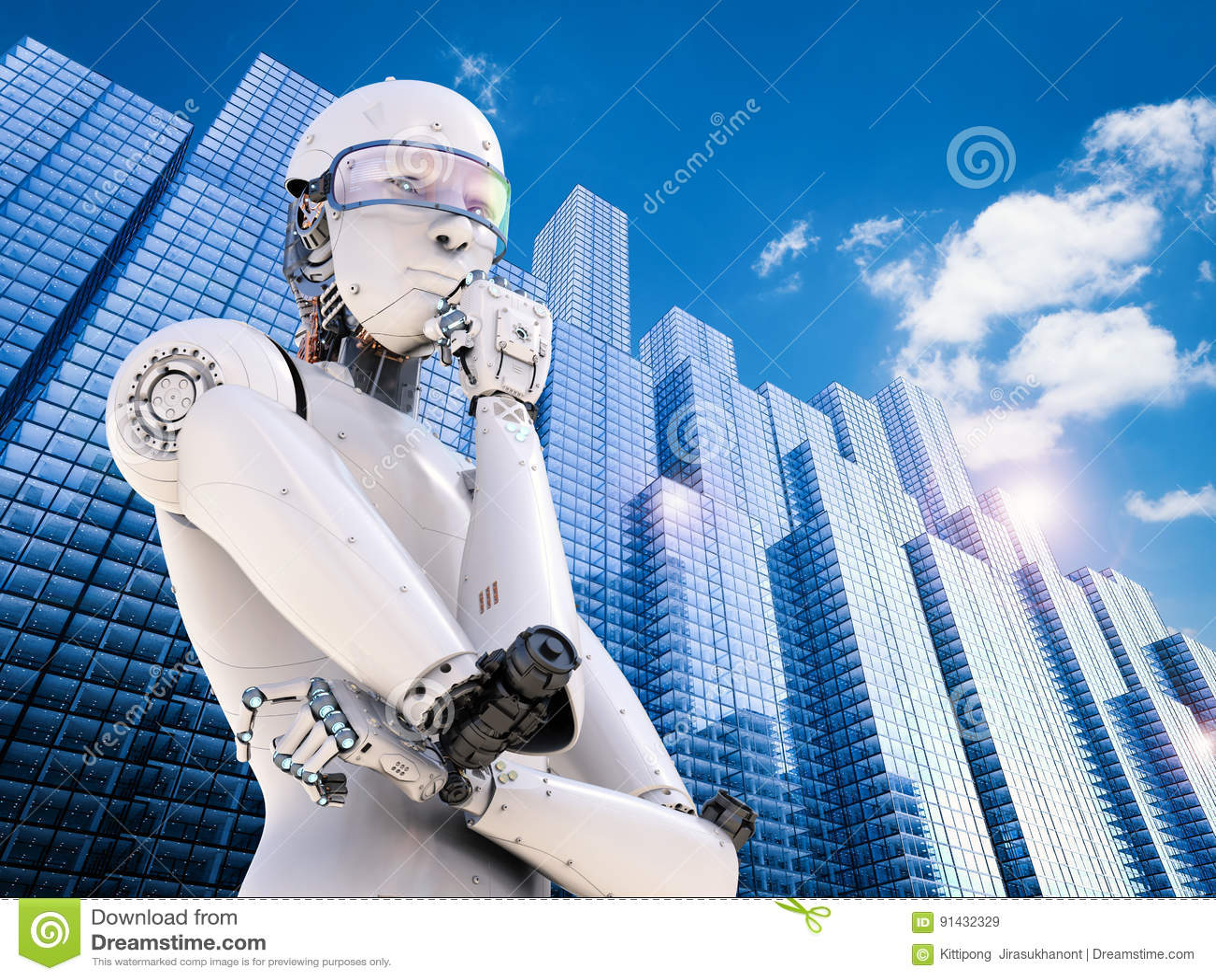 Pensiero del robot di Android
