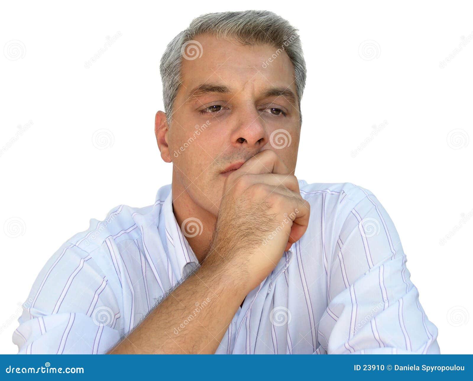 Download Pensiero Dell'uomo D'affari Fotografia Stock - Immagine di maschio, maschi: 23910