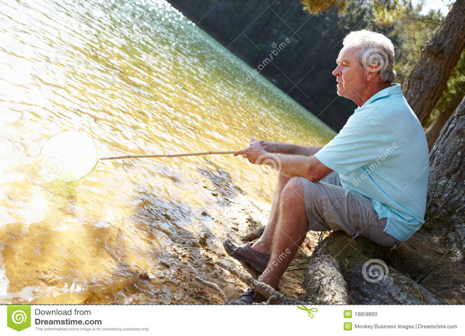 Pensionär för fiskelakeman