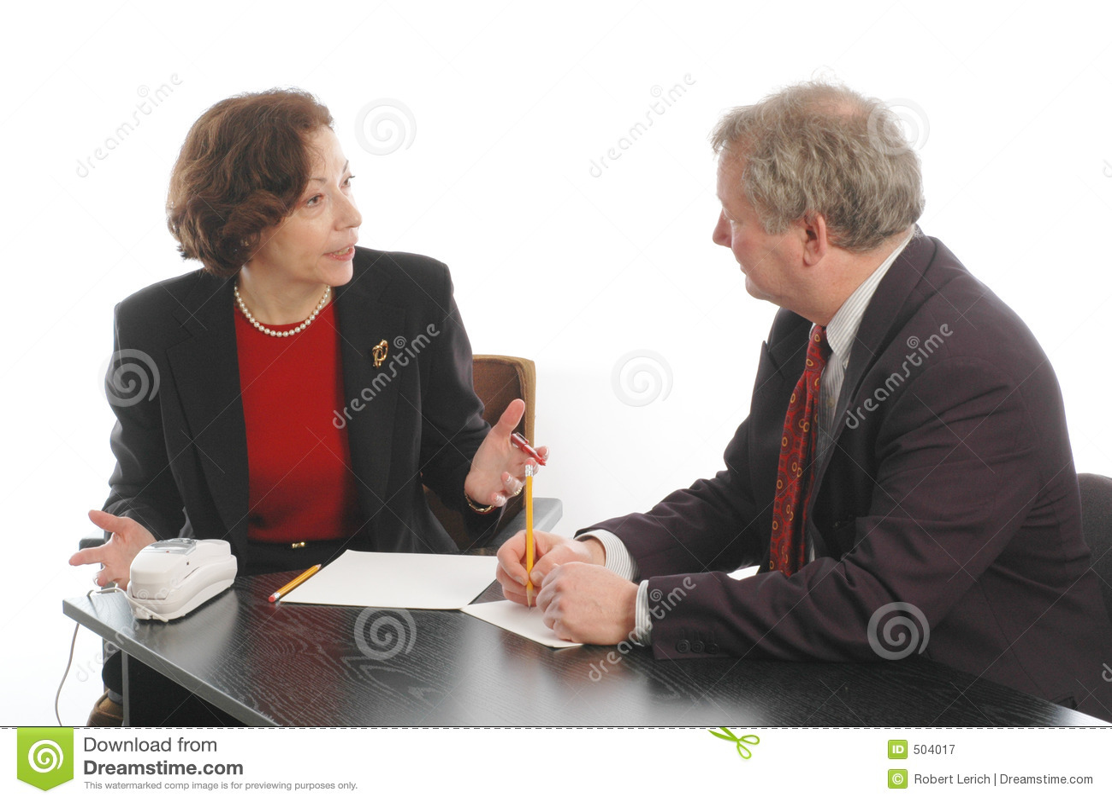 Pensionär för möte för ledare för affär 749