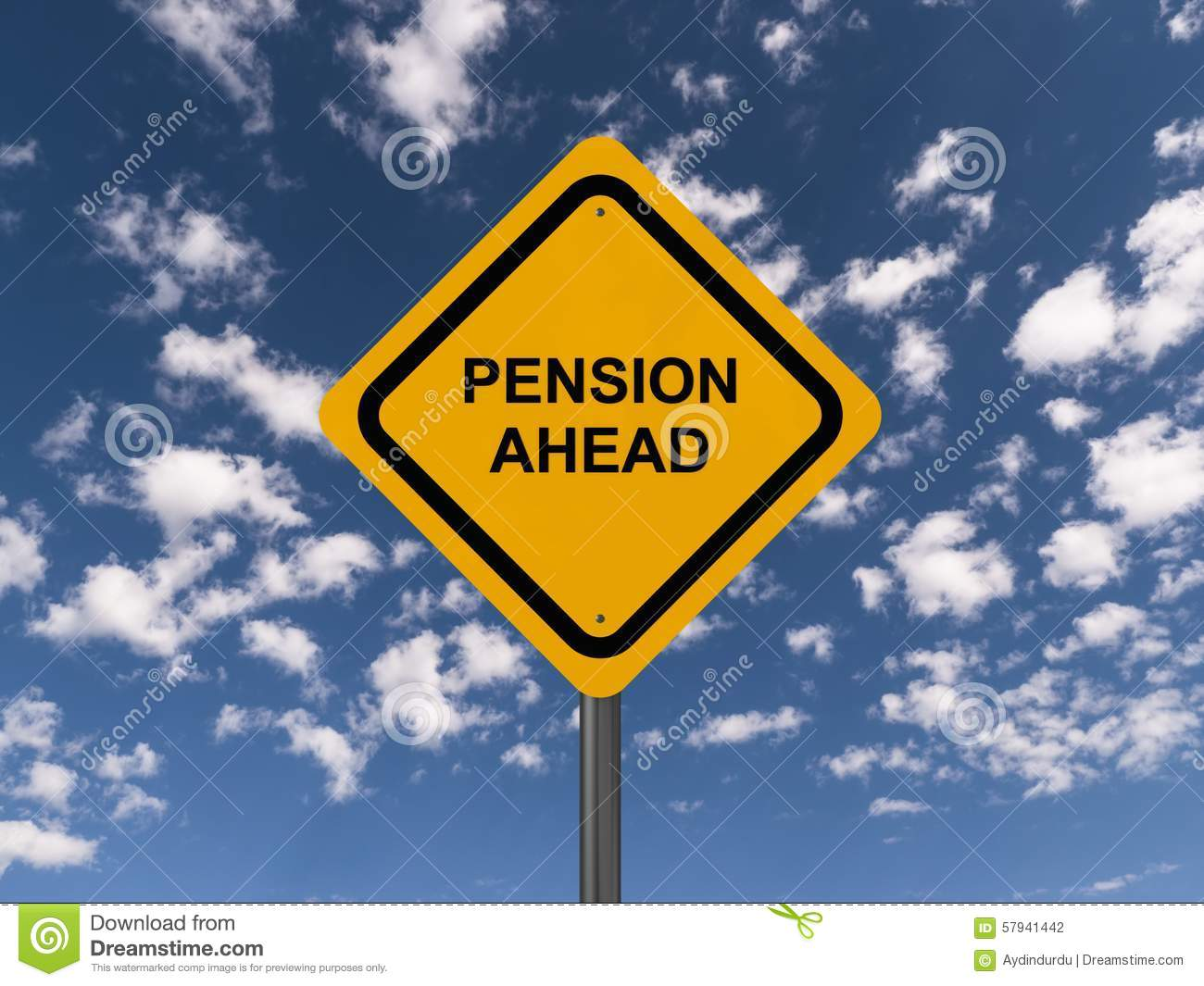 Pension Sign Coin Tree Graph Illustration Design Stock