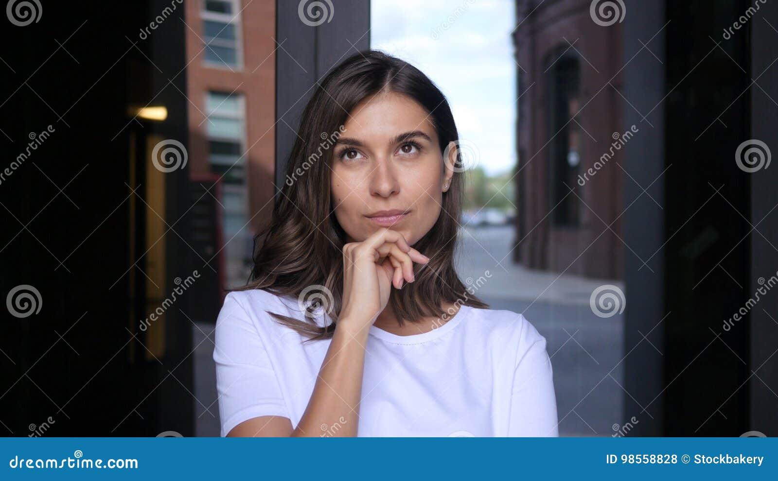 Pensive Beautiful Girl Portrait