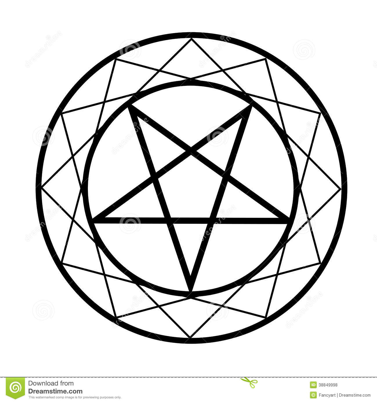 Pentacle Stock Vector Illustration Of Pentangle Invocation 38849998