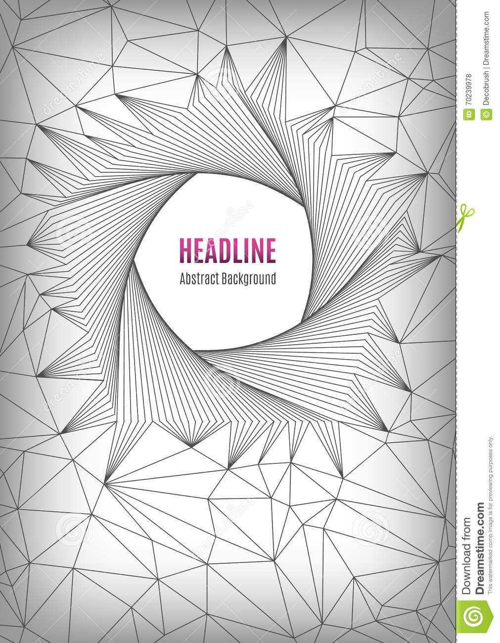 Line Art Poster Design : Pentagon line art design pattern a geometric polygonal